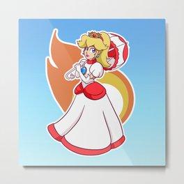 Fire Flower Peach! Metal Print