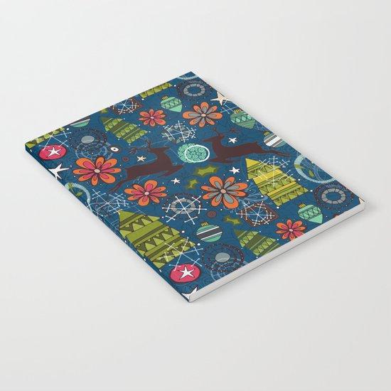 joyous jumble indigo Notebook