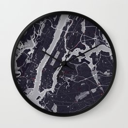 New York City Monochrome Wall Clock
