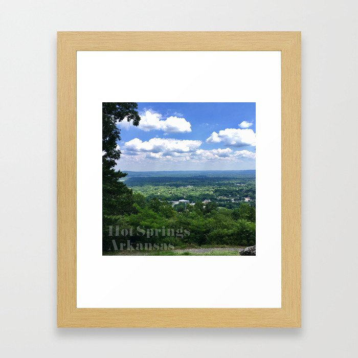Scenic overlook of Hot Springs Arkansas Framed Art Print
