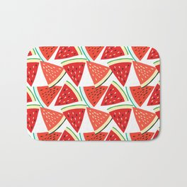 Sliced Watermelon Bath Mat