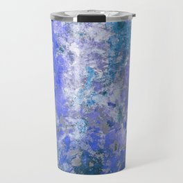 Cornflower Blue Abstract Painting Travel Mug