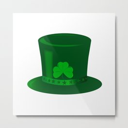 Irish Top Hat Metal Print