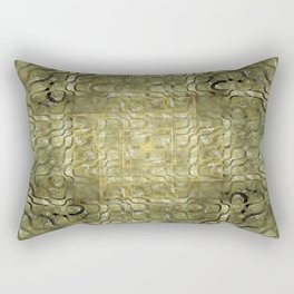 Topography in Gold and Pearl Rectangular Pillow