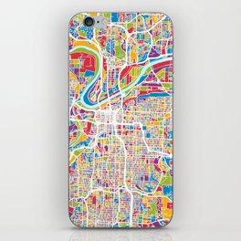 Kansas City Missouri City Map iPhone Skin