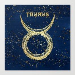 Taurus Zodiac Sign Canvas Print