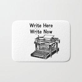Write Here, Write Now Bath Mat