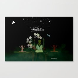 Meditaition by Sherriofpalmsprings Canvas Print