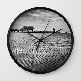 Couple on Cleethorpes Beach Wall Clock