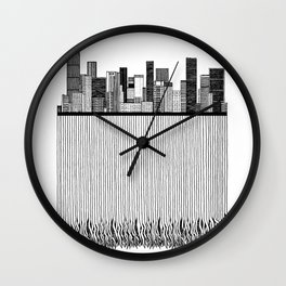City with roots Wall Clock