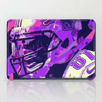 nfl iPad Cases featuring CALVIN JOHNSON // NFL  GRIDIRON ILLUSTRATIONS by mergedvisible
