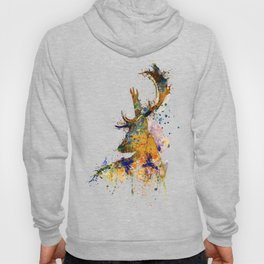 Deer Head Watercolor Silhouette Hoody
