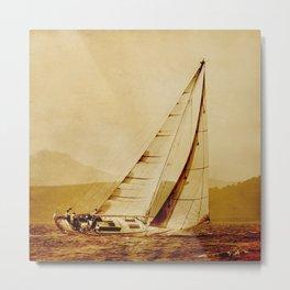 old sailboat sailing Metal Print