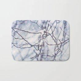 Snow Branches Bath Mat
