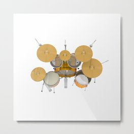Yellow Drum Kit Metal Print
