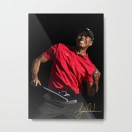 Tiger Woods golf Metal Print