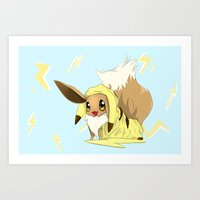 eevee Art Prints featuring Eevee-licious! by EeekGirl