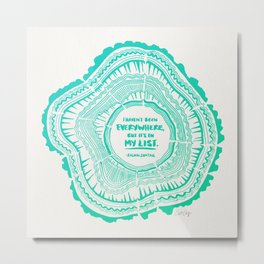 My List – Turquoise Ombré Metal Print