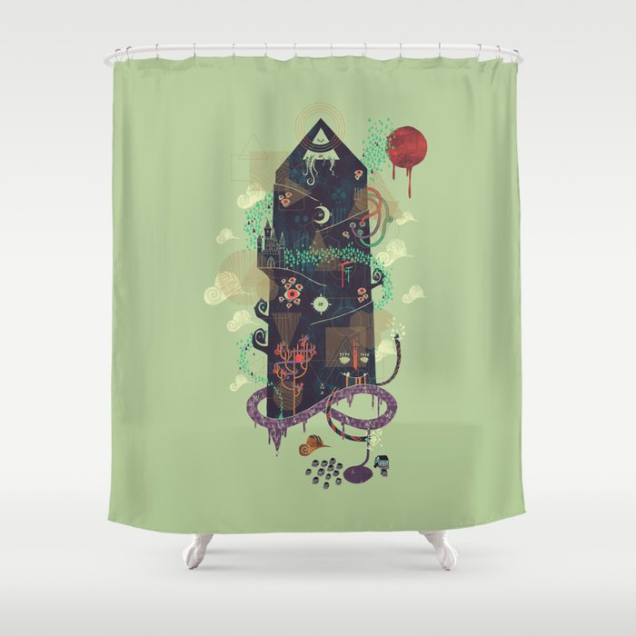 The Ominous and Ghastly Mont Noir Shower Curtain