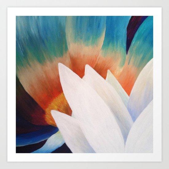 Juxtaposed Flowers Art Print