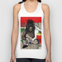 basquiat Tank Tops featuring Basquiat by Helen Syron