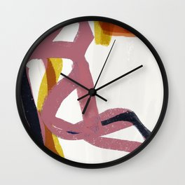 Woman in Respite Wall Clock