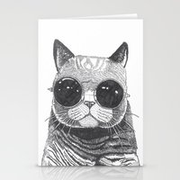 anaconda Stationery Cards featuring cool cat by Polkip