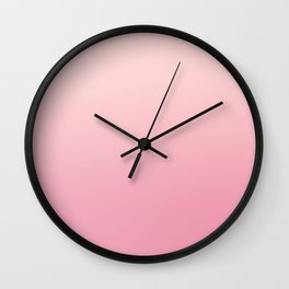 ROSE PETALS - Minimal Plain Soft Mood Color Blend Prints Wall Clock
