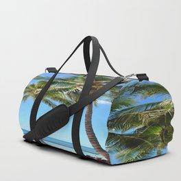 Palm Tree with Hawaii Summer Sea Beach Duffle Bag