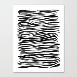Pandanus Bark - Black Canvas Print