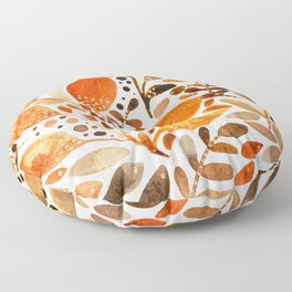 Autumn watercolor leaves Floor Pillow