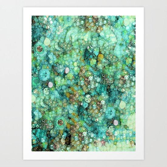 Mermaids Only Art Print