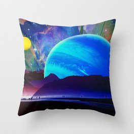 A Sunday Afternoon On The Island Of A Distant Planet Throw Pillow