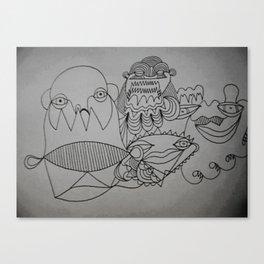 Skribb 3 Canvas Print