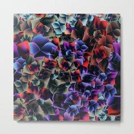 Beautiful bright pattern with hydrangea flowers Metal Print