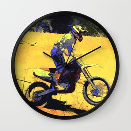 Riding Hard - Moto-x Champion Wall Clock