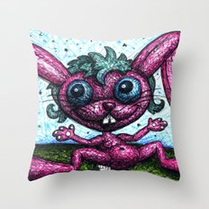 Delyla's Bunny Throw Pillow