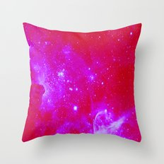 Bright Pink, Fuschia Galaxy Throw Pillow