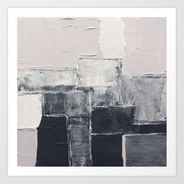 Abstract painting 5 - pink and gray Art Print