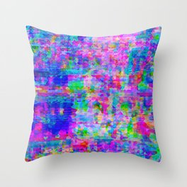 Crystallized Glitch Throw Pillow