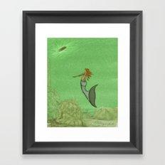 The Golden Mermaid Framed Art Print