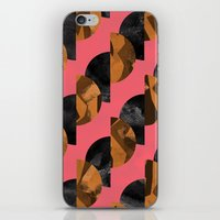 black and gold iPhone & iPod Skins featuring gold,black by Georgiana Paraschiv