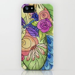 Stained Glass Garden Too iPhone Case