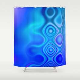 Dots in Motion (watery blues) Shower Curtain