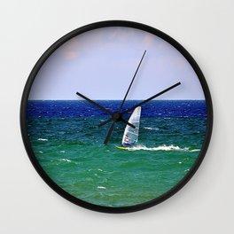 windsurf Wall Clock