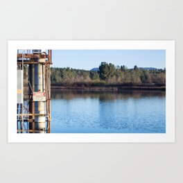 Utility pipe for Electricity, Kunkle Reservoir Art Print