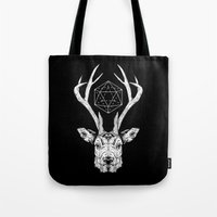stag Tote Bags featuring Stag by Andy Christofi
