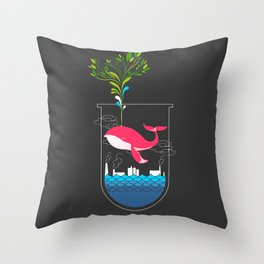 Nature Whale Throw Pillow