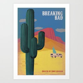 Breaking Bad Vintage style Poster Art Print