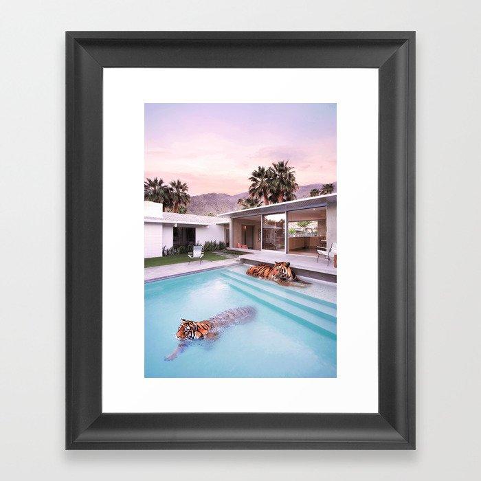 Palm Springs Tigers Framed Art Print